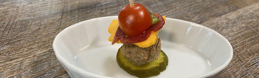 Bariatric friendly burger bites picture