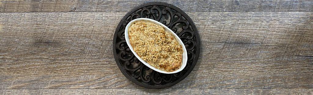 small ramekin with air fryer oatmeal